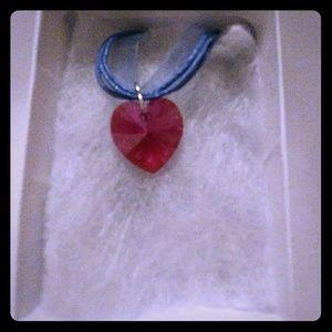 Jewelry - Nebula Pink Crystal Heart Necklace